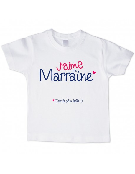 t shirt enfant j 39 aime ma marraine 2 bubble gum. Black Bedroom Furniture Sets. Home Design Ideas