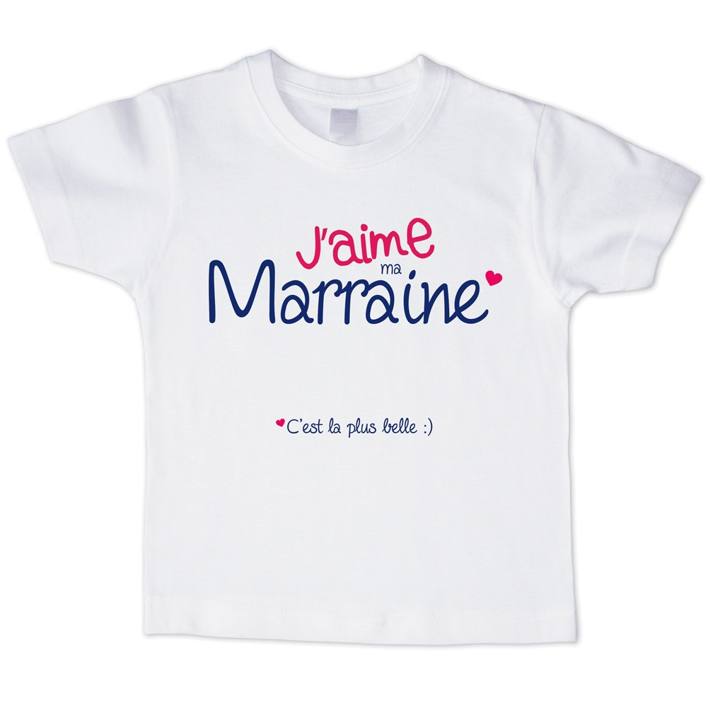 t shirt enfant j 39 aime ma marraine 2 bubble gum et bubble co store. Black Bedroom Furniture Sets. Home Design Ideas