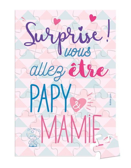 Puzzle à Message Surprise - Papy Mamie