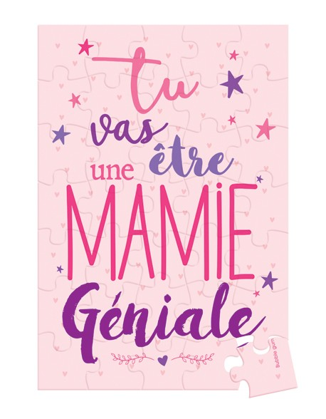 Puzzle à Message Surprise - Mamie Géniale