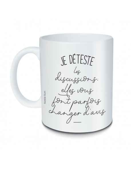 Mug Je déteste les discussions