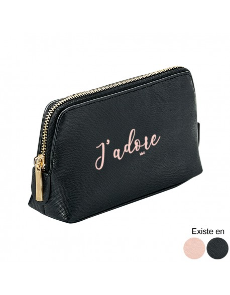 Trousse maquillage simili - J'adore