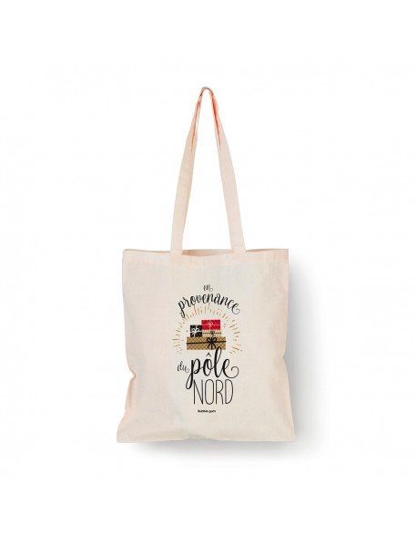 Tote bag Naturel Pöle nord couleur