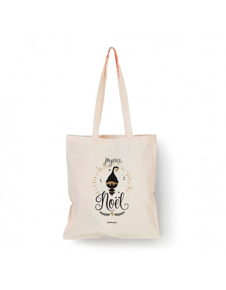 Tote bag Naturel Lutin noir