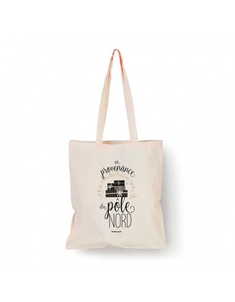 Tote bag Naturel Pöle nord noir
