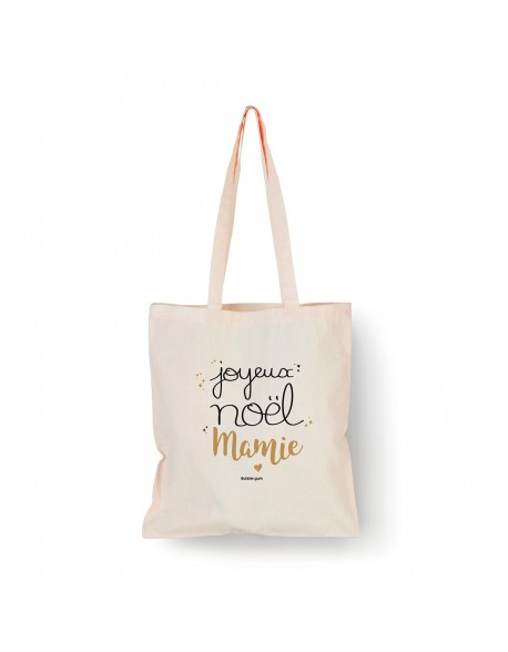 Tote bag Naturel Joyeux Noël Mamie