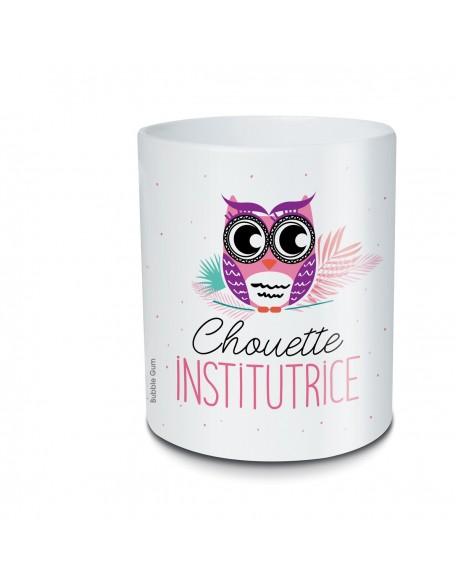 Pot crayon - Chouette institutrice